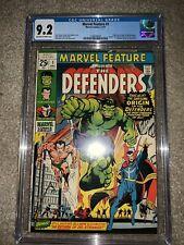 MARVEL FEATURE 1 Origin & 1st App The Defenders Marvel 1971 CGC 9.2 Graded
