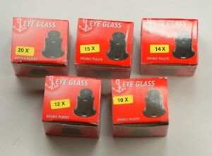 eyeglass loupe HIGH MAGNIFICATION 5 SET magnifier watchmakers 10x 20x 15x 14x
