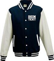 Varsity College Jacke mit Wunschdruck viele Farben Partnerlook Jacken S6904164c