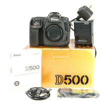 Nikon D500 DSLR Camera Body Only Boxed with Battery & Charger