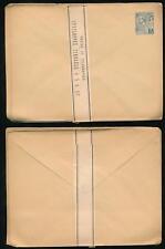 Monaco 1890 Postal Stationery Pack of 7 Envelopes 5c with Band