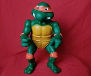 """Vintage Ninja Turtles Michaelangelo 14"""" Figure 1989 Mirage Playmates TMNT GIANT"""