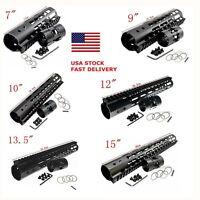 6 Types Super Slim KeyMod Free Float Handguard for.223/556 Picatinny Rail System