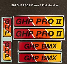 1984 Ghp Pro Ii & 1985 Ghp Pro Frame & Fork decal sets, your choice - 6 pieces