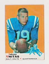 1969 Topps Football Johnny Unitas #25 Free Shipping