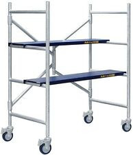 Scaffolding Sets Scaffold 600 lb Load Capacity Adjustable, Casters, Foldable New