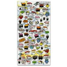 CUTE SUSHI STICKERS Japanese PVC Sticker Sheet Craft Scrapbook Kawaii Japan NEW
