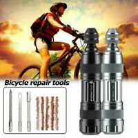 Bike Tubeless Tire Repair Tools Kit Mountain Road Bicycle Strips Vacuum Set H1K4