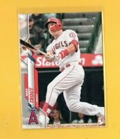 D19295  2020 Topps #1 Mike Trout ANGELS CARD