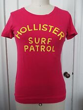 Hollister Surf Patrol Short Slv Scoop Neck T-Shirt Hot Pink NWT Medium ONE LEFT!