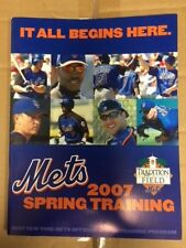 NY Mets Spring Training Programs - 7 different