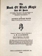 Book Black Magic Waite Secret Mystic Cryptic Occult Demons Devil Satan Grimoire