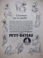 PUBLICITÉ DE PRESSE 1952 PETIT-BATEAU CULOTTES ET SOUS-VÊTEMENTS - ADVERTISING