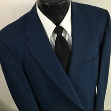 Vtg Hart Schaffner Marx ROCKABILLY Sport Coat Jacket BLUE SHARKSKIN Blazer 44 L