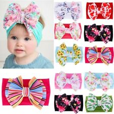 Newborn Baby Kids Bow Headband Soft Turban Floral Headwear Hairband Headwrap H1