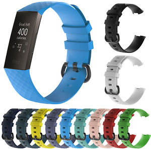 For Fitbit Charge 3 4 Strap Classic Replacement Wristband Silicone Buckle Band