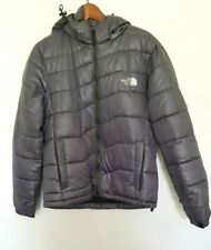 THE NORTH FACE Designer Ladies Grey Long Sleeve Hooded Puffer Jacket size S EUC