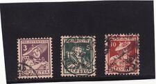 Briefmarken Schweiz, Pro Juventute 1916, Mi. Nr. 130-132