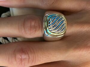 David Yurman men's Silver and Gold Ring