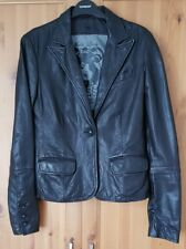 Guess real leather black jacket, size Small, new.