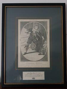 A Collectable Framed Vintage RSC Shakespeare Print Hamlet of Mr Kemble