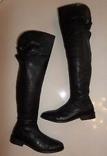 BOXED All Saints Hussar REAL LEATHER OVER THE KNEE THIGH HIGH BLACK BOOTS 3