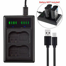 LED Dual USB Charger for Nikon Z6, Z7, D7200 D7100 D7000 D7500 EN-EL15B Battery