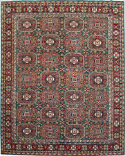 Traditional Hand Knotted kazak Area Rug Green/Red Oriental Rug Size (9 x 12)