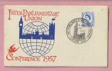 G.B FDC, First day cover, Parliamentary Union Conference. 1957, London
