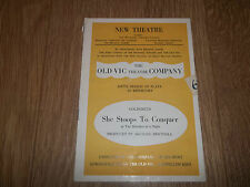 """NEW THEATRE """" SHE STOOPS TO CONQUER """" 1940'S PROGRAMME GOLDSMITH"""