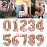 "32/40"" Giant Foil Number Rose Gold Helium Balloon Birthday Party Wedding Decor"