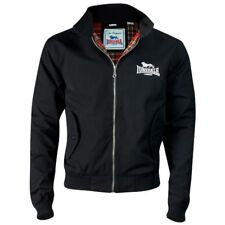 Original LONSDALE LONDON Harrington Jacke schwarz mit Tartan-Futter Gr. XL *NEU*
