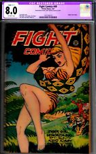 FIGHT #49-CGC 8.0(SMALL GLUE )-1ST JUNGLE CVR-1947 MATT BAKER ART