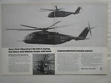 9/1974 PUB SIKORSKY AIRCRAFT CH-53E NAVY MARINES HELICOPTER HUBSCHRAUBER AD