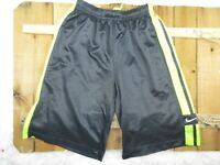 Nike Boys Youth size S Black and Neon Green Basketball Athletic Shorts PinStripe
