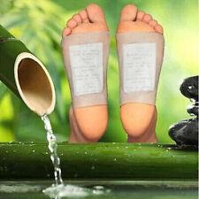 10X Natural Bamboo Vinegar Tsao Detox Foot Pad Patchs Detoxify Toxin Adhesive