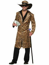 Funky Leopard Pimp Big Daddy Gangster 1920s 1970s Supa Mac Mens Costume