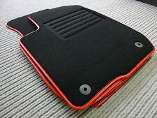 Original Lengenfelder Fußmatten für VW Beetle Cabrio + Rand Kunstleder ROT + NEU