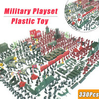 330 Pcs Plastic Toy Soldiers Kit Action Figures Military Army Men Model Boy