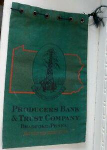 Vintage Producers Bank & Trust Company Bradford PA Deposit Bag