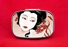 GEISHA JAPANESE PIN UP ART METAL PILL MINT BOX CASE
