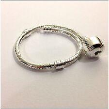 Girls / Childs Chain 17cm European SP Snake Chain 925s Clip Clasp Bracelet