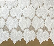 STUNNING White Leaf Pattern Lace Fabric 125cm Wide by The Yard 9228