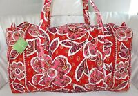 VERA BRADLEY LARGE DUFFEL BAG - Rosy Posies Pink  - BRAND NEW WITH TAGS