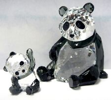 PANDA MOTHER WITH BABY BEAR SET SWAROVSKI CRYSTAL 2015 SWAROVSKI #5063690