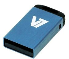 V7 Nano 4GB USB 2.0 Flash Stick Pen Memory Drive - Blue