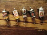 Stroh's & Stroh Light 5 Different Beer Fishing Lures Bohemian Pilsner Lager