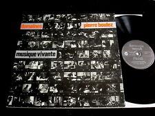 PIERRE BOULEZ/DOMAINES/MUSIQUE VIVANTE/HARMONIA MUNDI/HMU 930/FRENCH PRESS
