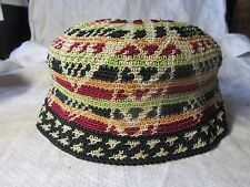 c1920/30s Stunning CROCHETED or KNITTED HAT - Silk Threads CHILD or BABY