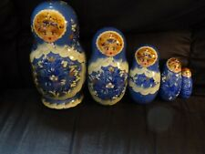 Nesting Dolls Poccua P.H. Signed Blue Awesome Set